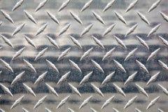 Passos de prata do metal fotografia de stock