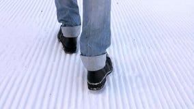 Passos na neve video estoque