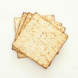 Passover background with matzoh isolated on white. Passover background with matzoh isolated on white Stock Photos