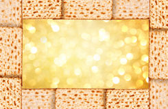 Passover background. matzoh Stock Photography