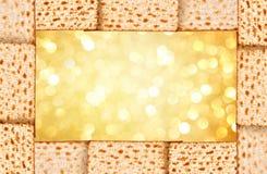 Passover background. matzoh. (jewish passover bread Stock Photography