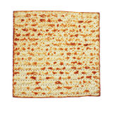 Passover background. matzoh (jewish passover bread) isolated Stock Photography