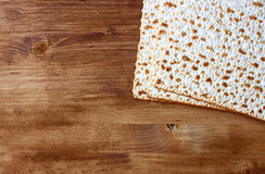 Passover background. wine and matzoh (jewish passover bread) Stock Photography