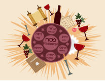 Passover bomb. Holiday passover background with symbols of holiday Stock Photography