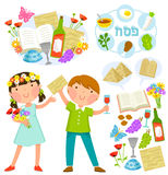 Passover cartoons set Stock Photography