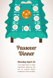 Passover  dinner, seder pesach. table with passover plate and traditional food Royalty Free Stock Images