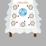 Passover  dinner, seder pesach. table with passover plate and traditional food Royalty Free Stock Image