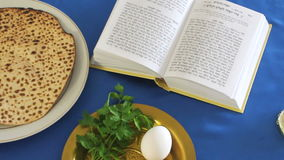 Passover dinner table stock footage