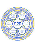 Passover Flowers Porcelain Plate Stock Image