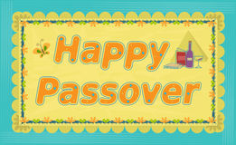 Passover Greeting Sign Stock Photos