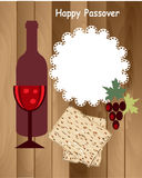 Passover holiday card,wood background,. Passover objects on the wood background Stock Image