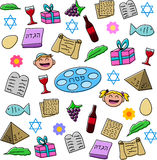 Passover Holiday Symbols Pack. Vector illustration pack of Passover symbols and icons royalty free illustration