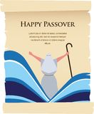Passover invitation on acient card. Let my people go Royalty Free Stock Photo