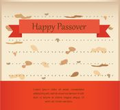 Passover invitation on matzoh background Royalty Free Stock Photography