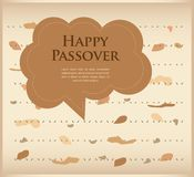 Passover invitation. matzoh (jewish bread) with speech bubble Royalty Free Stock Images