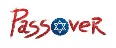 Passover with Israel star designed using grunge brush graphic. Vector royalty free illustration