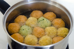 Passover Jewish holiday  Food - Matzah balls soup Stock Image