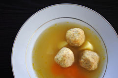 Passover Jewish soup dumplings Royalty Free Stock Image