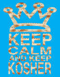 Passover - Keep calm and keep Kosher written with Matzo letters Royalty Free Stock Images