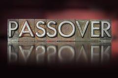 Passover Letterpress. The word Passover written in vintage letterpress type Stock Image