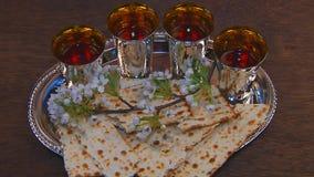Passover matzo passover wine stock video footage