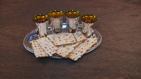 Passover matzo passover wine. Torah pesah jewish culture stock video