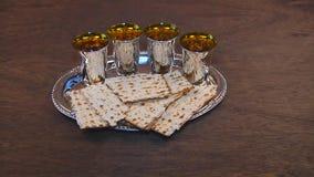 Passover matzo passover wine stock video