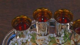 Passover matzo passover wine stock footage