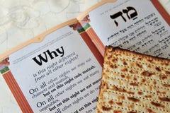 Passover Matzo Sheet and Haggadah Royalty Free Stock Image