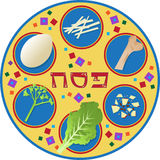 Passover Plate Royalty Free Stock Photography