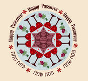 Passover round blue Royalty Free Stock Image