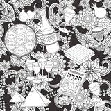 Passover seamless pattern background Royalty Free Stock Image