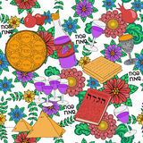 Passover seamless pattern background Stock Images