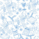 Passover seamless pattern background Stock Photos
