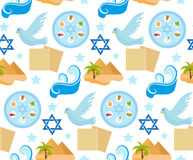 Passover seamless pattern. Pesach endless background, texture. Jewish holiday backdrop. Vector illustration. royalty free illustration