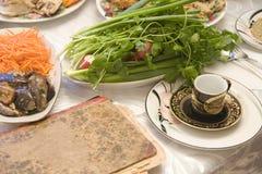Passover seder. Bukharian (central asian) jewish Royalty Free Stock Photo