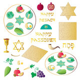 Passover seder clipart. Passover seder icons vector clipart Stock Photos