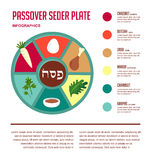 Passover seder flat icons Stock Image