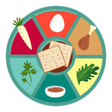 Passover seder flat icons Royalty Free Stock Photography