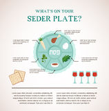 Passover seder flat icons Stock Photos