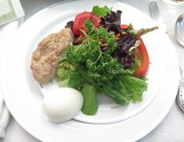 Passover Seder. Jewish Holidays Traditional Gefilte Fish Dish at Passover Seder Royalty Free Stock Images