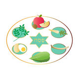 Passover seder platter with food Royalty Free Stock Photo