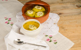 Passover seder soup Royalty Free Stock Images