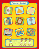 Passover Symbols. Cute Passover holiday symbols. Eps10 Stock Images