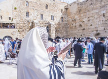 Passover in the Western wall Royalty Free Stock Photography