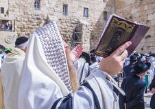 Passover in the Western wall Stock Photography