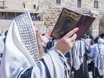 Passover in the Western wall Stock Photo