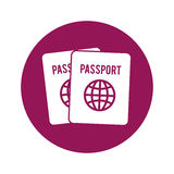 Passpor emblem icon image Stock Photography
