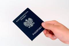 Passport. Polish passport Stock Image