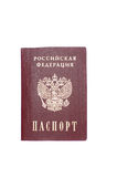 Passport. Russian passport over white background royalty free stock images